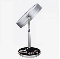 Двойное зеркало для макияжа с LED подсветкой 5X, фото 1