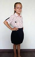 Детская рубашка с коротким рукавом для девочек