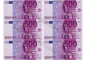 Вафельная картинка евро