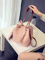 Большая сумка мешок + клатч, набор 2в1