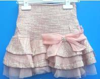 Модная нарядная юбка с высокой посадкой для девочки 110-122