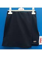 Юбка-шорты темносинего цвета 128-152