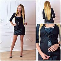 Жакет  женский, модель 18, черный