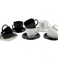 Luminarc Carine Black/White.набор чайный 220мл.