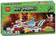 """Конструктор Bela 10620 """"Подземная железная дорога"""" Minecraft (аналог LEGO 21130), 399 дет."""