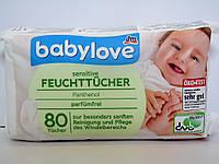 Влажные салфетки Babylove sensitive, 80 шт