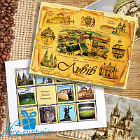 Шоколадный набор ЛЬВОВ 12 шоколадок