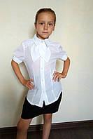 Детская нарядная блузка белого цвета