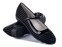 Подростковая школьная обувь. Туфли для девочек от производителя GFB E3101-1 (8 пар, 32-37)