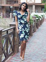 Яркое летнее  платье с цветочным узором размер:48,50,52,54