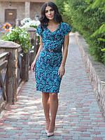 Женское платье миди с розами размер:48,50,52,54
