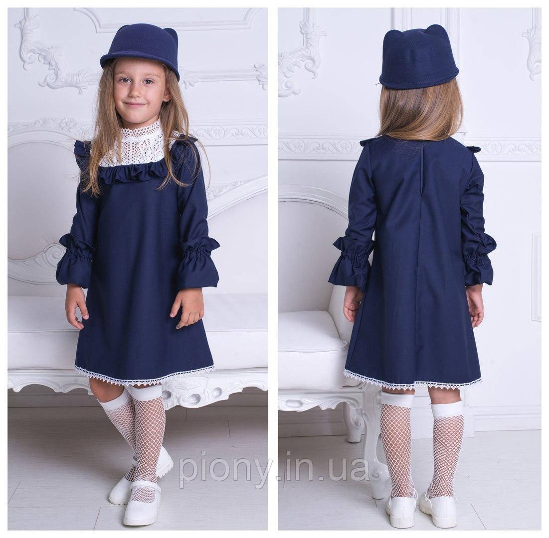 Детское школьное платье в английском стиле