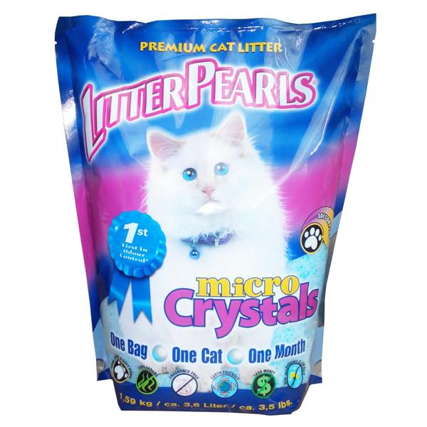 Наполнитель Litter Pearls Микро Кристаллс (MC) кварцевый для туалетов котов, 3,6 л