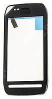 Тачскрин (сенсор) Nokia 603 with frame (с рамкой), black (черный)