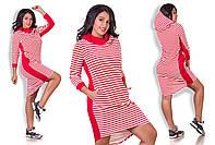 Платье-туника в полоску с капюшоном МВ-88288