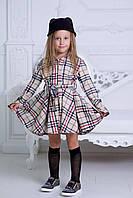 """Приталенное детское платье-рубашка """"Tanita"""" с расклешенной юбкой и длинным рукавом"""