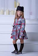 """Приталенное детское платье-рубашка """"Tanita"""" с расклешенной юбкой и длинным рукавом (2 цвета)"""