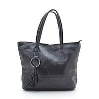 Женская стильная оригинальная сумка, черная