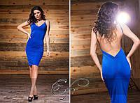 Летнее коктейльное платье с открытой спиной ФР-884001