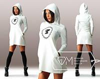 Женское спортивное платье с капюшоном  СД-88872