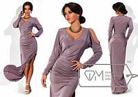 Элегантное длинное вечернее платье с разрезом  СД-88537