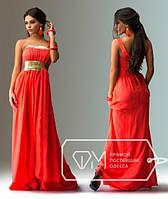 Красивое длинное шифоновое платье с пайетками  СД-88803