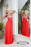 Красивое вечернее платье из атласа и шифона СД-88798