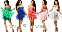Короткое вечернее платье бюстье СД-88797