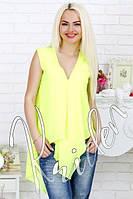 Женская свободная шифоновая блузка  СД-88201