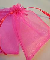 Мешочки органза 7х9 см, ярко розовый, 1шт. Пр-во Украина.