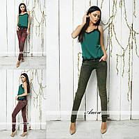 Женские джинсы цвет хаки  РР-8883