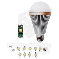 Комплект для сборки светодиодной лампы SQ-Q24 9 Вт (холодный белый, E27)