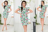 Короткое цветочное платье на лето МЖ-88085