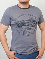 Мужская трикотажная футболка с принтом Riders (разные цвета)
