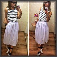 Женская белая юбка миди  СЕ-880121