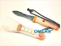 Нож Pelengas Барби для подводной охоты (серейтор / серейтор)