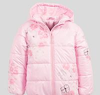 Красивая розовая куртка для девочки