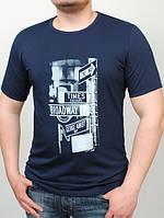 Мужская трикотажная футболка с рисунком Broadway (разные цвета)