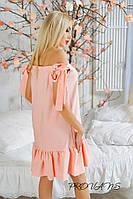 Женское свободное платье с открытыми плечами  НО-8814