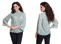 Женская гипюровая блузка ТД-881107
