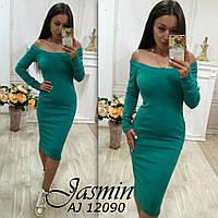Женское облегающее платье с открытыми плечами АЖ-8812090