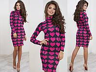 Женское платье футляр с рисунком  СОР-882004