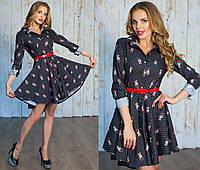 Молодежное джинсовое платье  СОР-881025