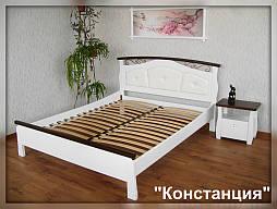 """Белая деревянная кровать с мягким изголовьем """"Констанция"""" 8"""