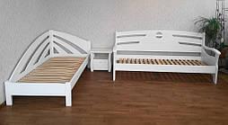 """Диван - кровать """"Луи Дюпон Люкс"""" (200*80), массив дерева - ольха, покрытие - """"белая эмаль"""" 6"""