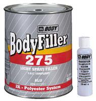 Шпатлевка жидкая с Al 275 1л (комп) серая 1л (1,05кг), HB Body