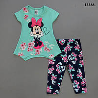 Летний костюм Minnie Mouse для девочки. Маломерит. 92 см, фото 1
