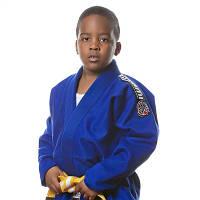 Кимоно детское для Бразильского джиу-джитсу TATAMI Kids Nova 2015 Синее + Белый пояс в комплекте M00