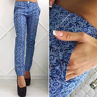 Женские  брюки с косыми карманами размеры 42-48