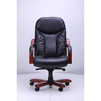Кресло Буффало НВ коньяк Кожа Люкс комбинированная Черная (AMF-ТМ)
